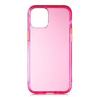Apple iPhone 12 Bist Colorful Yumuşak Pembe Silikon Kılıf