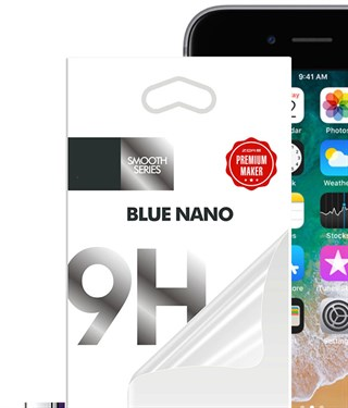 Apple iPhone 6 Plus 6S Plus Ekran Koruyucu Blue Nano Ekran Filmi Kırılmaz