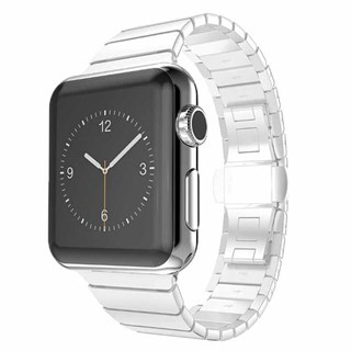 Apple Watch 42mm Metal Hasır Baklalı Kordon Gümüş