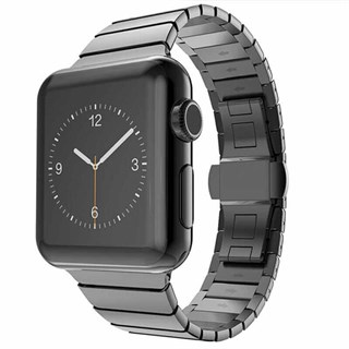 Apple Watch 42mm Metal Hasır Baklalı Kordon Siyah