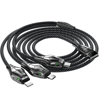 Benks D27 3 in 1 Snake Cable Lightning+Lightning+Type-C 1.5M