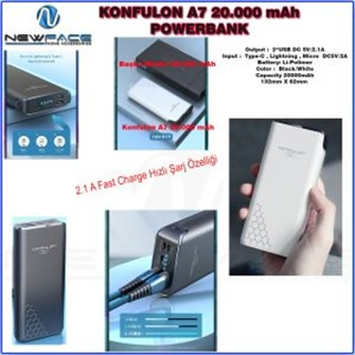 Konfulon Joko A7 Powerbank 20.000 mAh
