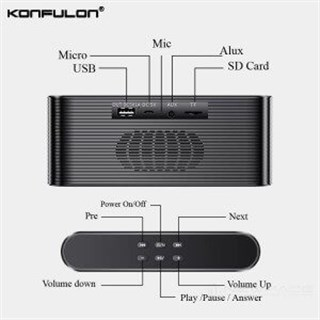 Konfulon K11 Bluetooth Hoparlör ve Powerbank